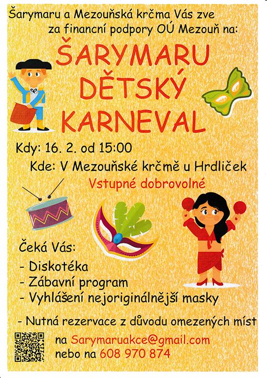 297ac104a Šarymaru a Mezouňská krčma Vás zvou na Šarymaru dětský karneval, který se  koná v sobotu 16.2.2019 od 15:00 v Mezouňské krčmě. Vstupné dobrovolné.