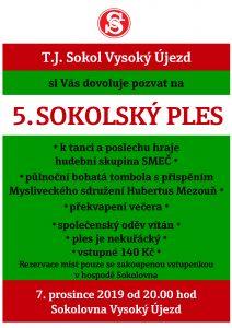 Plakát 5. sokolský ples