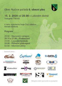 Plakát 6. obecní ples Nučice