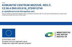Plakát Komunitní centrum Mezouň