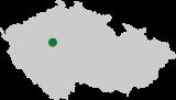 Mapa ČR - poloha obce Mezouň